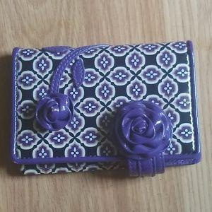 Vera Bradley Wallet Purple Frill Collection